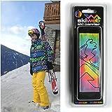 Porte-skis skiweb - arc-en-ciel