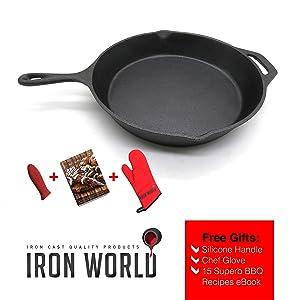 Iron World Cast Iron Skillet Pan