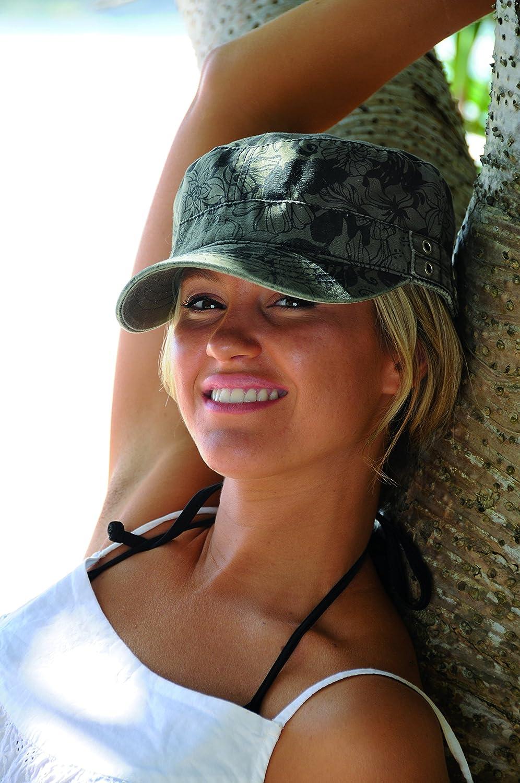 44f73bd145573 Kooringal Ladies Mao Cadet Cap Floral Camo  Amazon.in  Clothing    Accessories