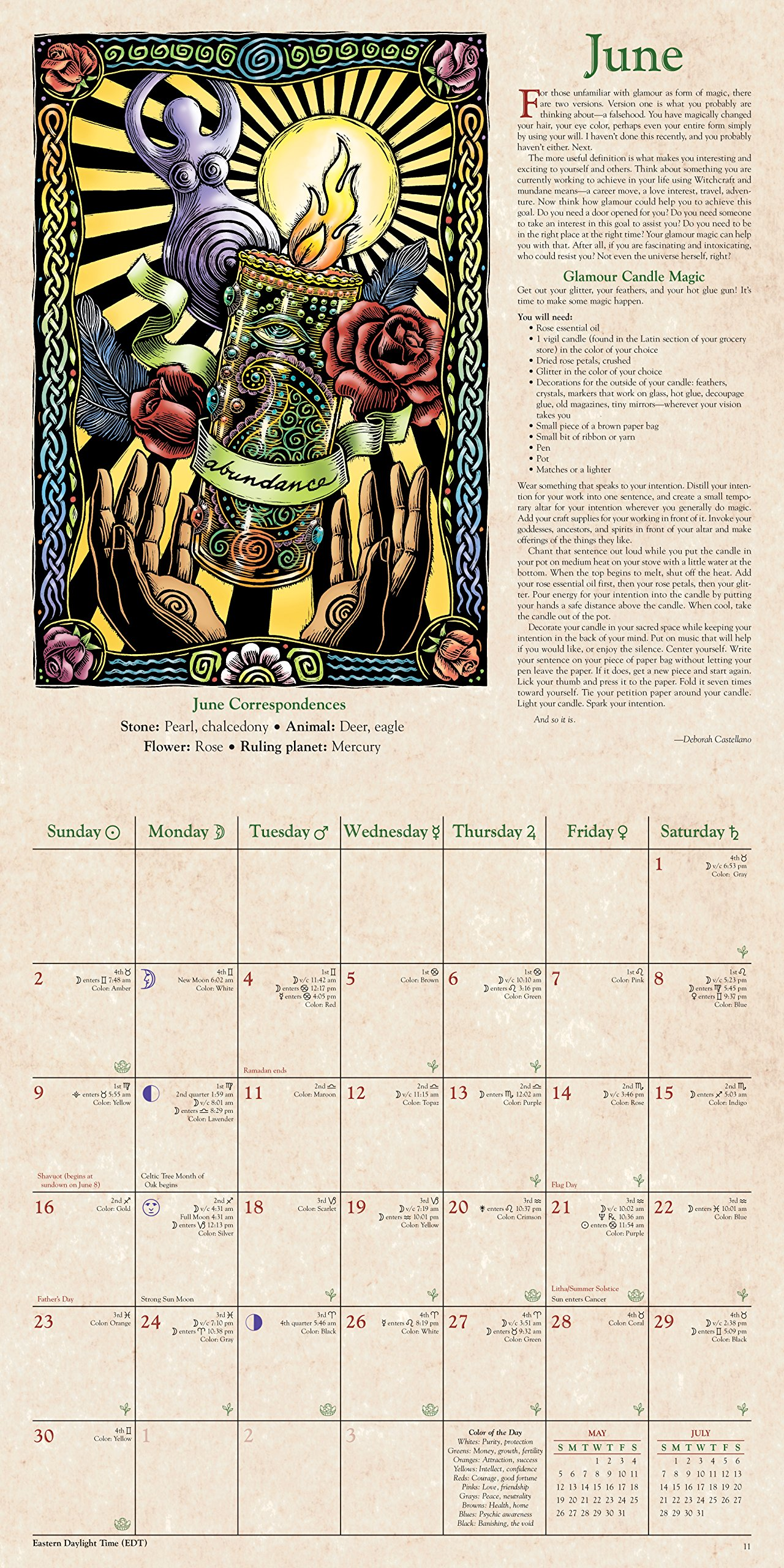 Llewellyn's 2019 Witches' Calendar: James Kambos, Lupa