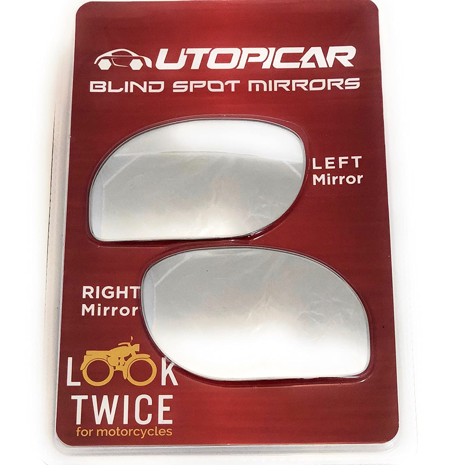 Blind Spot Mirrors. Unique design Car Mirror for blind side / Door mirrors engineered by Utopicar for larger image and traffic safety. Awesome rear view! [frameless, stick-on design] (2 pack) Zune Manufacturer