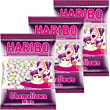 Haribo Chamallows Minis, 3er Set, Schaumzucker, Marshmallows, Mausespeck, 3 Beutel zu je 200 g