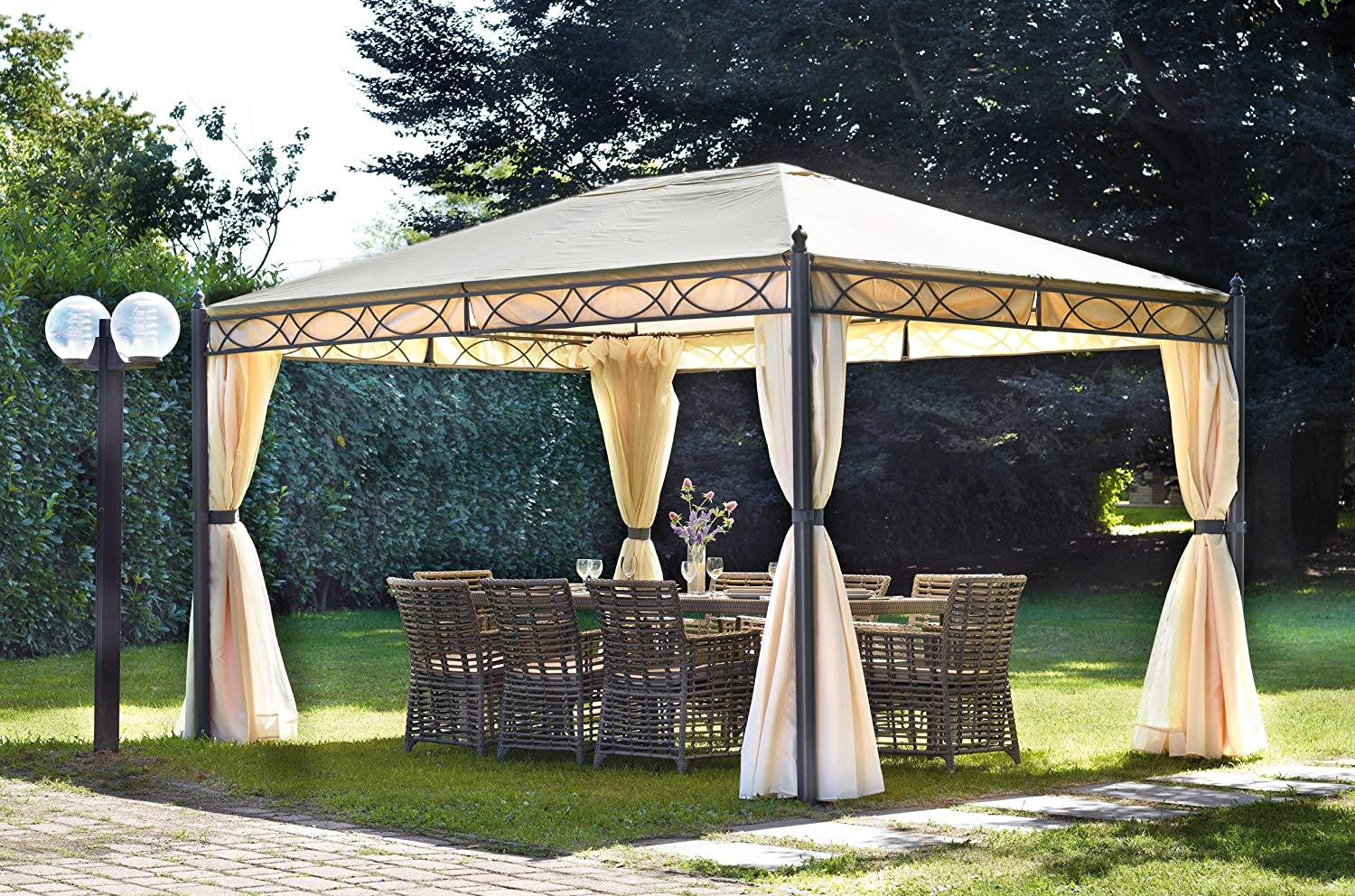 Gazebo Rectangular 3 x 4 m, color crudo: Amazon.es: Hogar