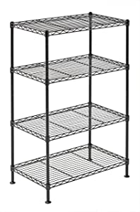 "Sandusky Lee WS201232-B Industrial Welded Wire Shelving, 20"" Width x 32"" Height x 12"" Depth, Black"