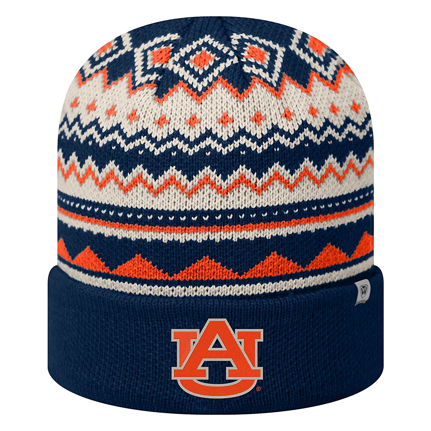 72a597c20ca Amazon.com   Top of the World Alabama Crimson Tide Official NCAA Cuffed Knit  Dusty Beanie Hat 090290   Sports   Outdoors