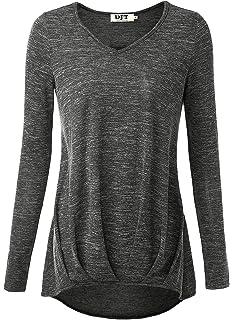 Leslady Damen beiläufige Langarm-T-Shirt Pullover Sweatshirt ... 43aed60a41