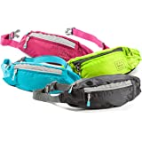 Fanny Packs for Women - Slim Yet Spacious Waist Belt Bag w/ Headphone Hole - Fits Wallet, Keys, and Phone - Small Lightweight Fannie Pack Great for Hiking, Walking, Camping, Travel, & More