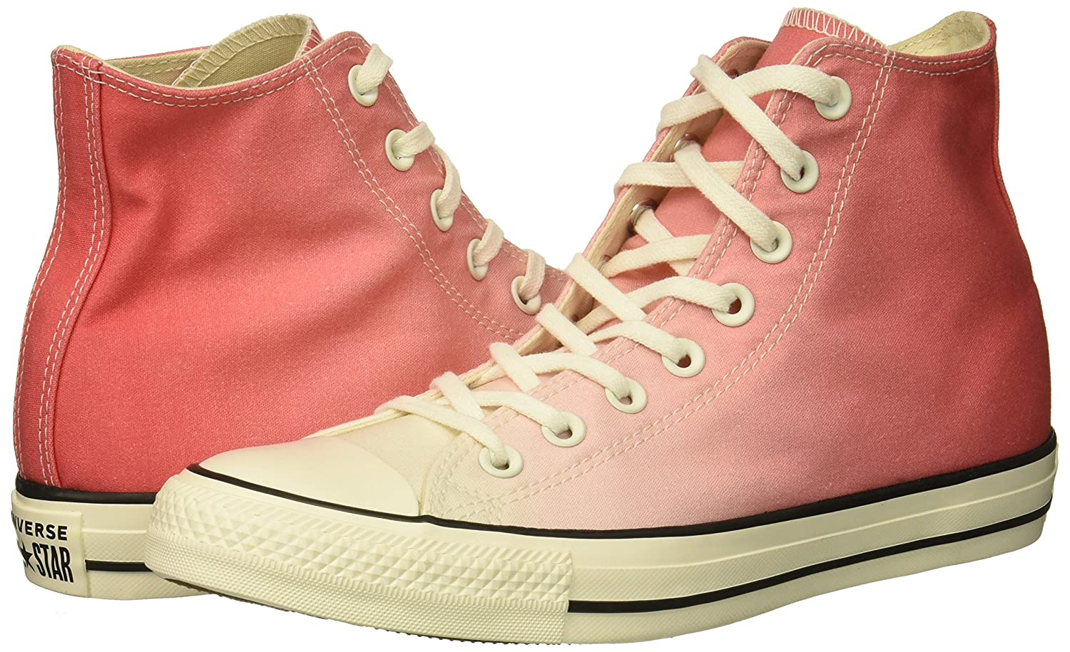 Converse Women's Chuck Taylor All Star Ombre High Top Sneaker B078NGDG5Z 7 M US|Punch Coral/Egret/Egret
