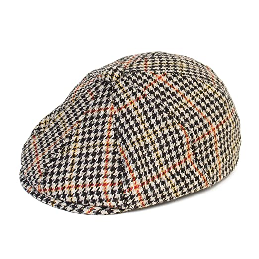 6690fcb704 Amazon.com: Dogtooth Pattern 8-Panel Gatsby Flat Cap with Yellow and ...