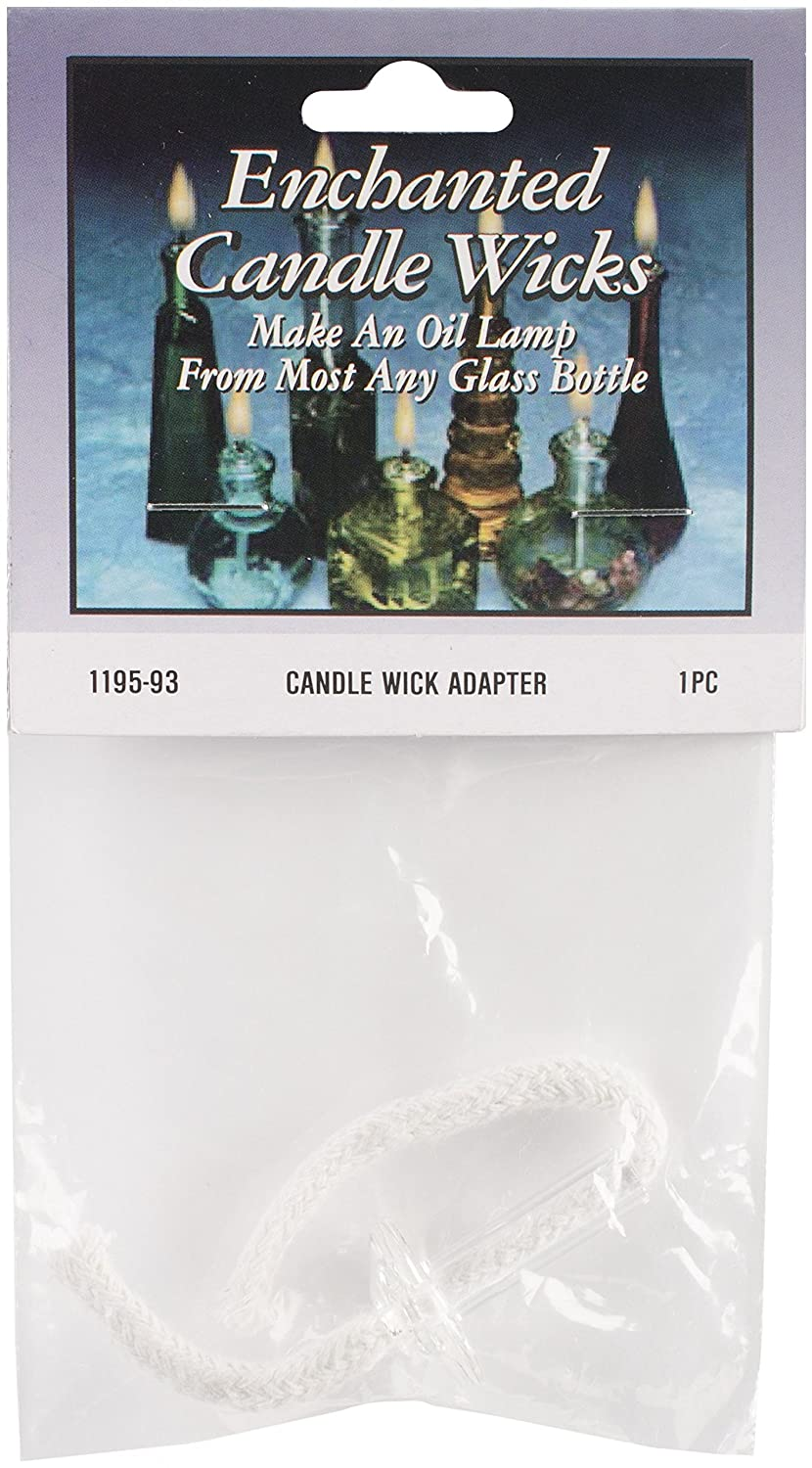Wick Adapter in Glass(1.5 x 1 inches), 5 inch Cord - 1 piece pack Darice 1195-93