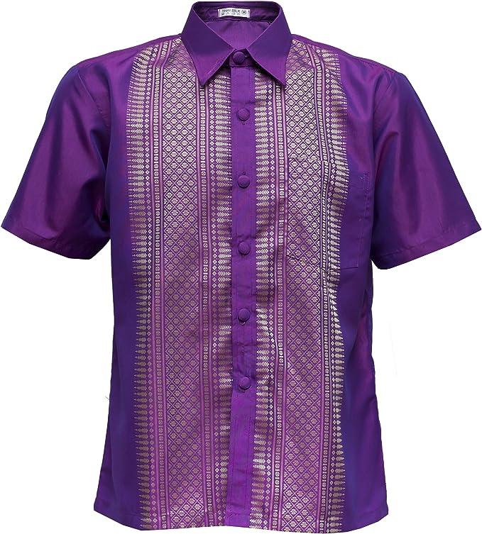 bestshop Camisa de manga corta Señor Luz Lila – Camisa para ...