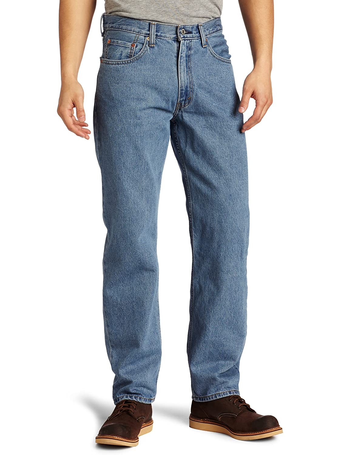 1e396f9ed10 Levi s Mens Men s 550¿ Relaxed Fit Medium Stonewash Jeans at Amazon Men s  Clothing store