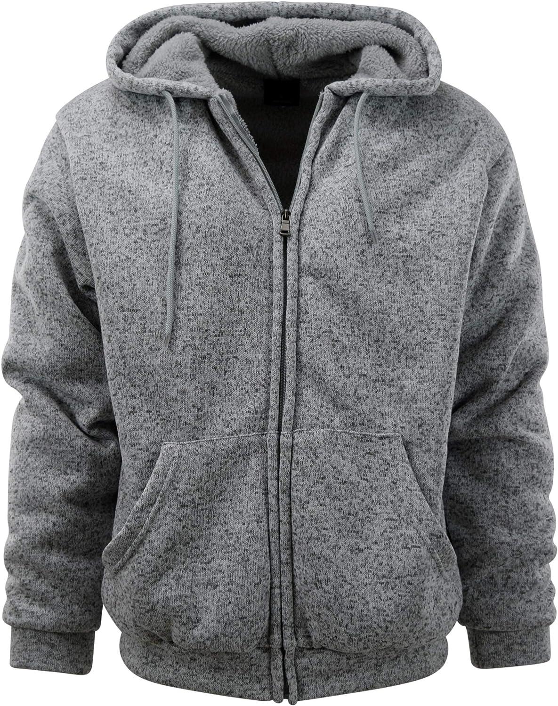 Mens Soft Fleece Lined Hooded Jumper Sweatshirt Zip Plain Coat Jacket Size S-3XL