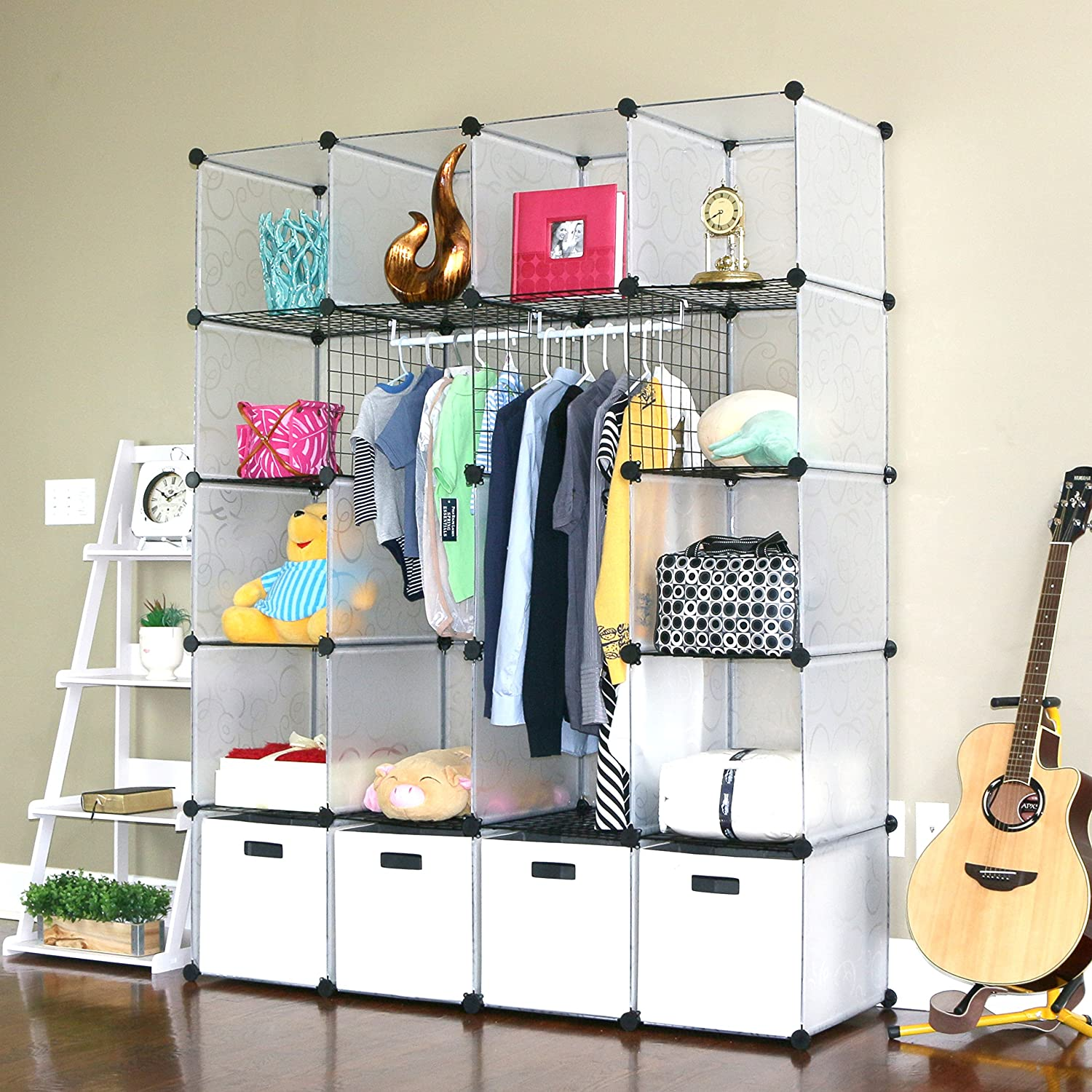 Amazoncom Unicoo Multi Use Diy 20 Cube Organizer, Wardrobe, Bookcase,