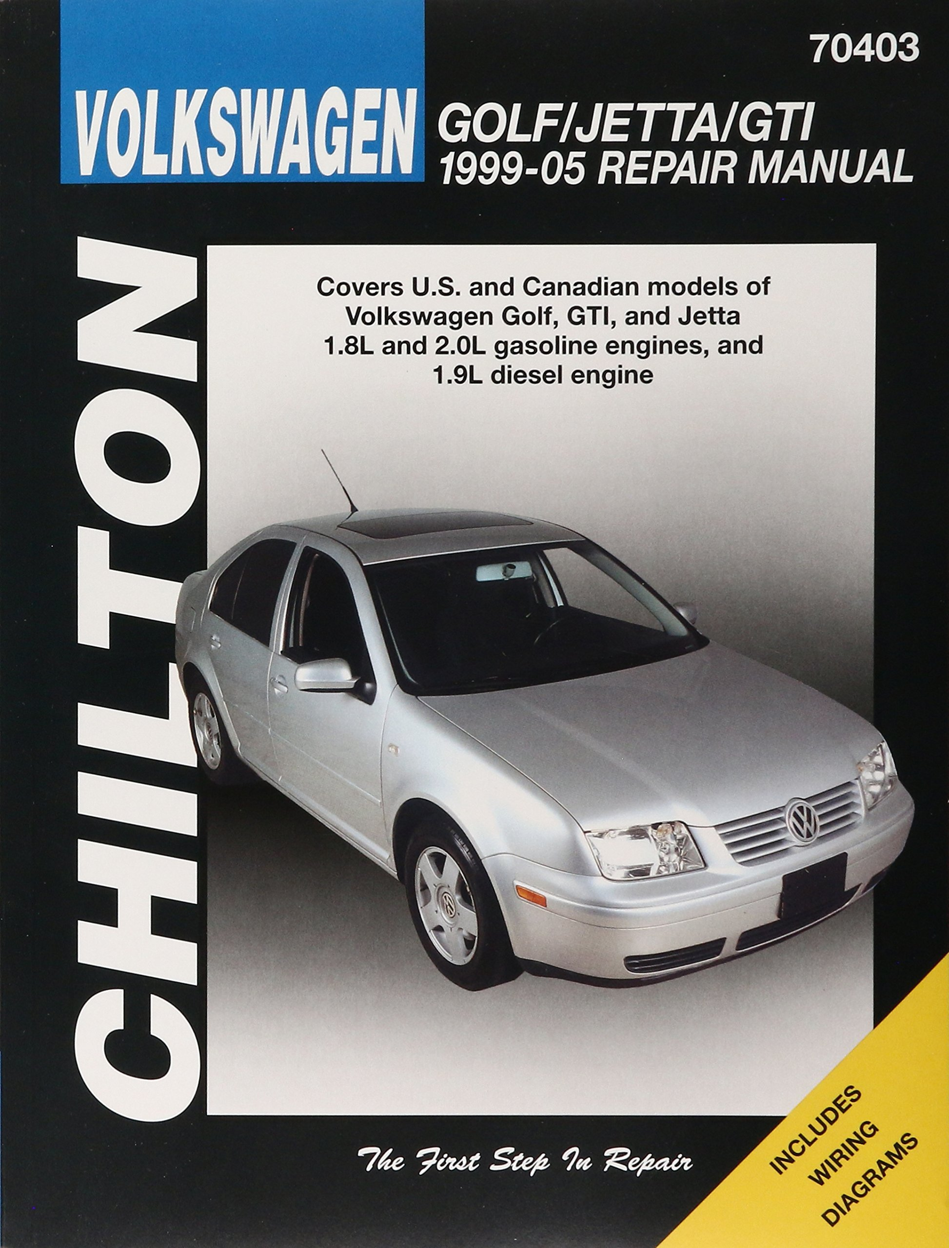 Volkswagen Golf/Jetta/GTI 1999-2005 Repair Manual (Chilton's Total Car Care  Repair Manuals): Chilton: 9781563927188: Amazon.com: Books | 2005 Gti Wiring Diagram |  | Amazon.com