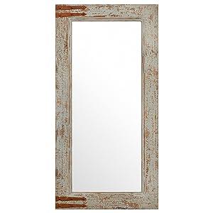 "Stone & Beam Vintage-Look Rectangular Frame Mirror, 36.25""H, Grey"
