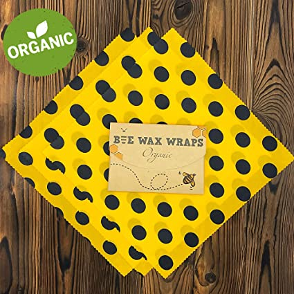 f9817d447666f Beeswax Wrap - Organic Reusable Cling Food Wraps for Wrapping and Storage -  Pack of 3-13
