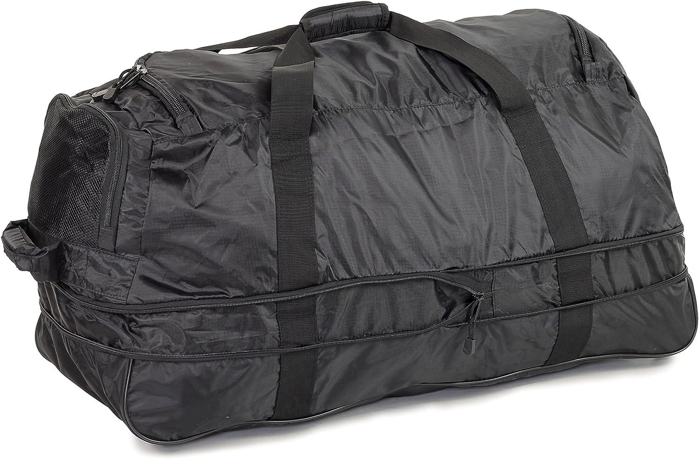 JB Ultra l/éger 1,1kg Pliable XL 120L /élargissement A roulettes Voyage Duffle Sac Bagage