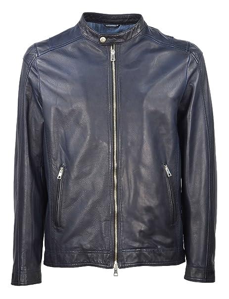 lowest price 15961 f7704 DANIELE ALESSANDRINI GREY - Uomo Giacca Pelle Blu ...