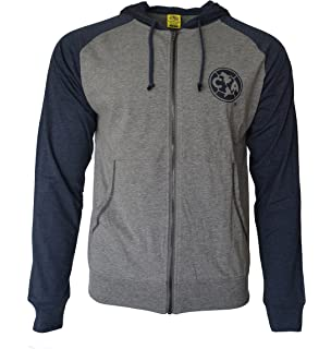 b82fde09200 Club America Hoodie Soccer lightweight Fz Summer Light Zip up Jacket Grey  Adults