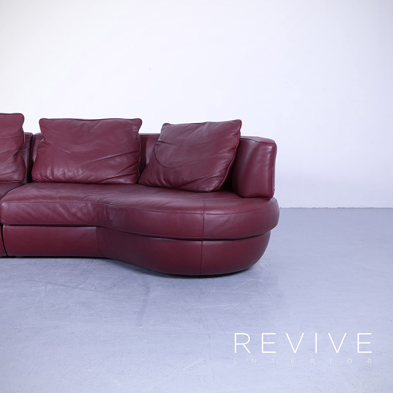 Natuzzi Designer Leder Sofa Rot Viersitzer Couch Echtleder ...