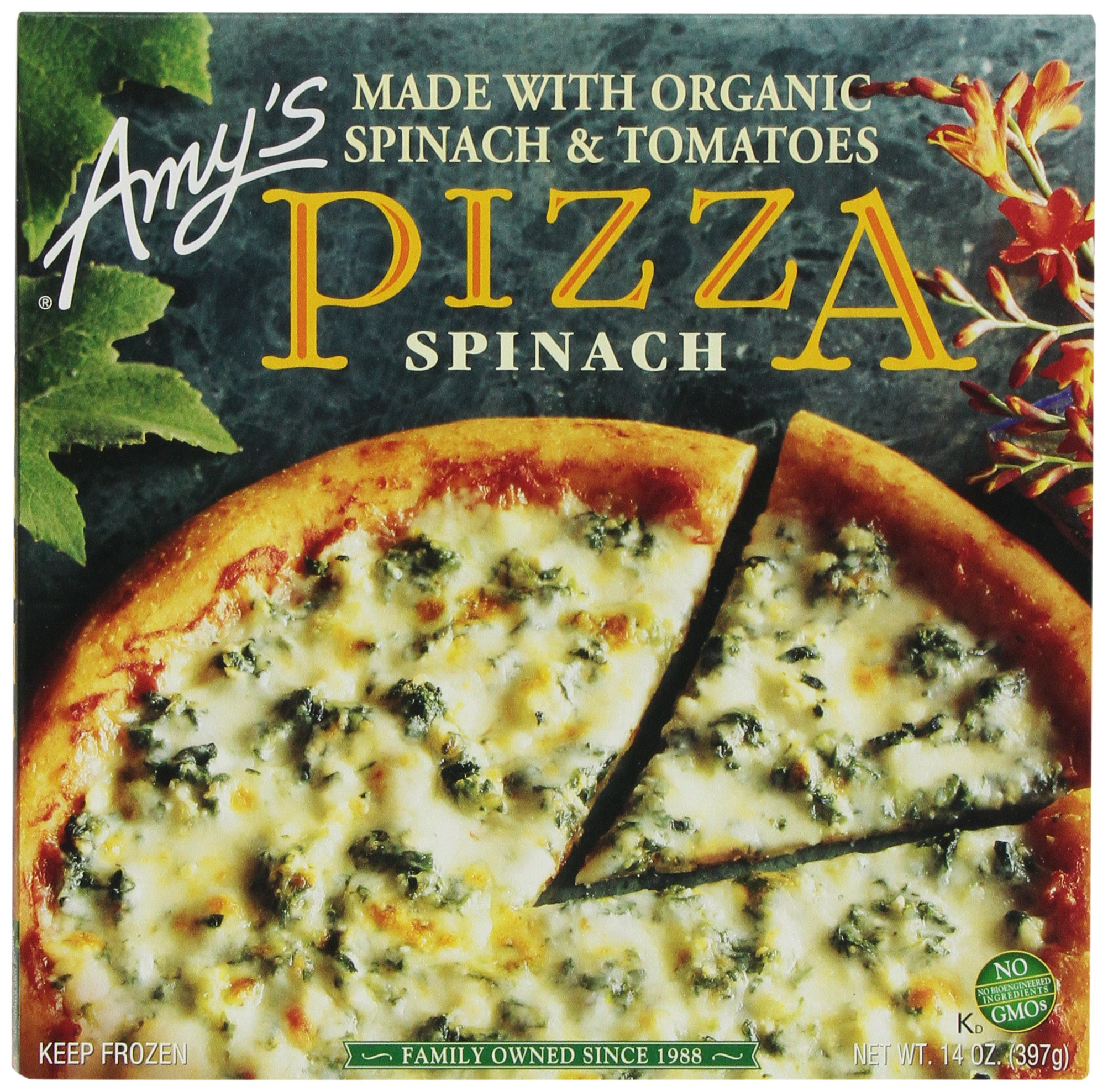 Amy's Pizza, Organic Spinach & Tomato, 14 Ounce (Frozen)