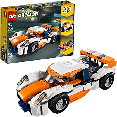LEGO Creator 3in1 Sunset Track Racer 31089 Building Kit (221 Pieces): Toys & Games