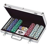 Juego de 300fichas de poker con ct. 11,5g en aluminio caso (estilos pueden variar)
