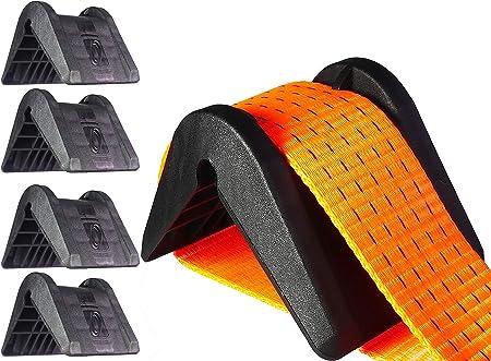 Protezione bordi sul carico di backup con cinghie di serraggio