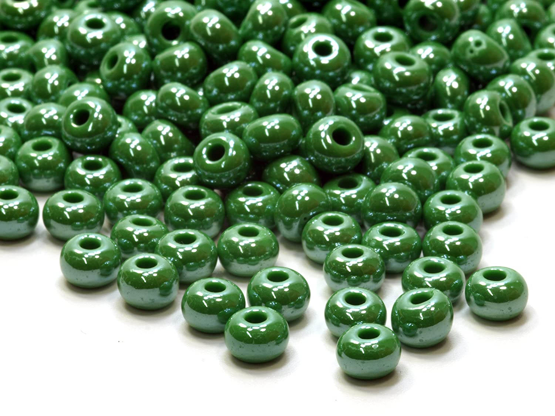 50g böhmische Rocailles Seed beads gelb 4,5 mm 5//0