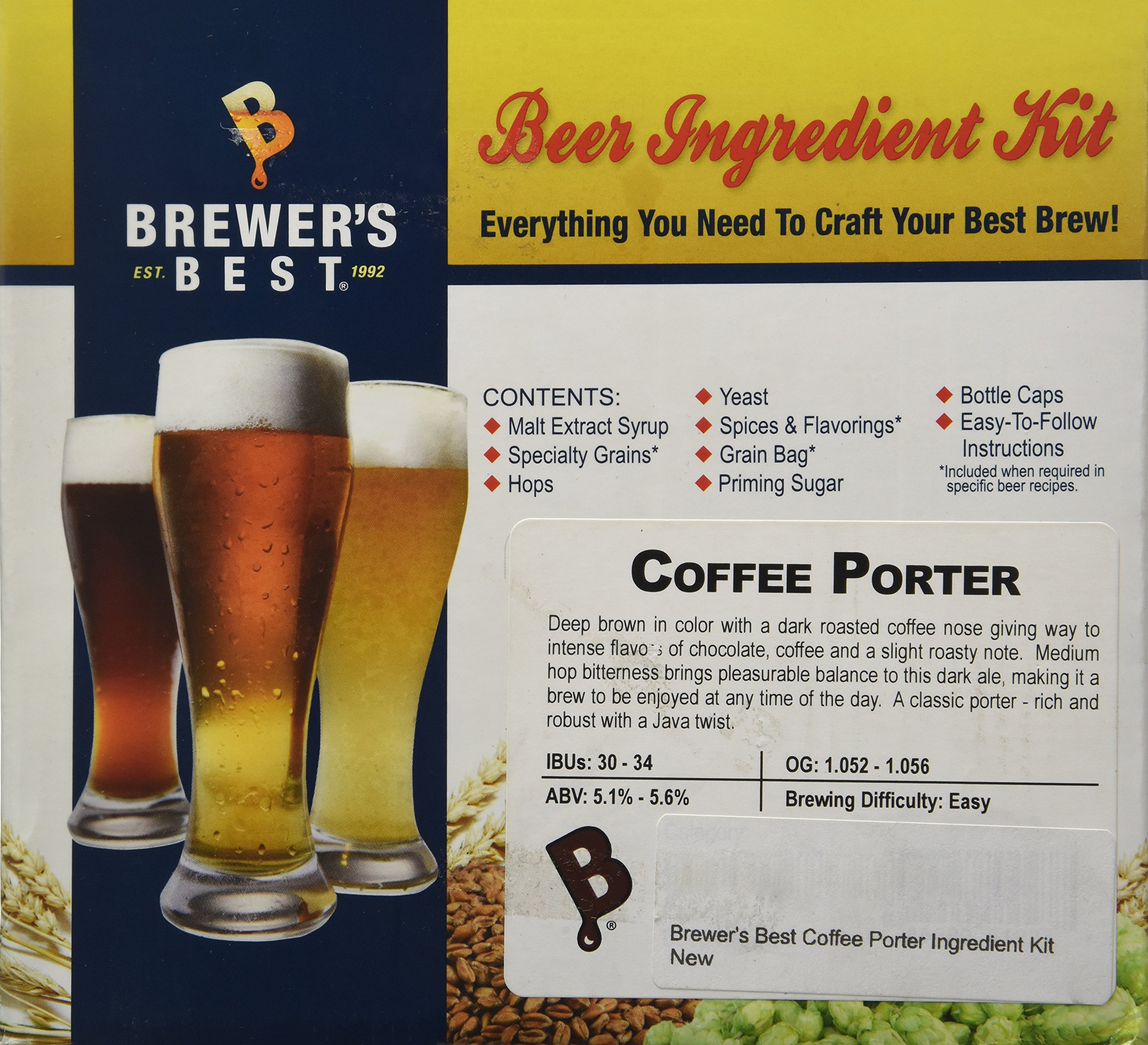Home Brew Ohio Best Coffee Porter Ingredient Kit by Home Brew Ohio (Image #1)