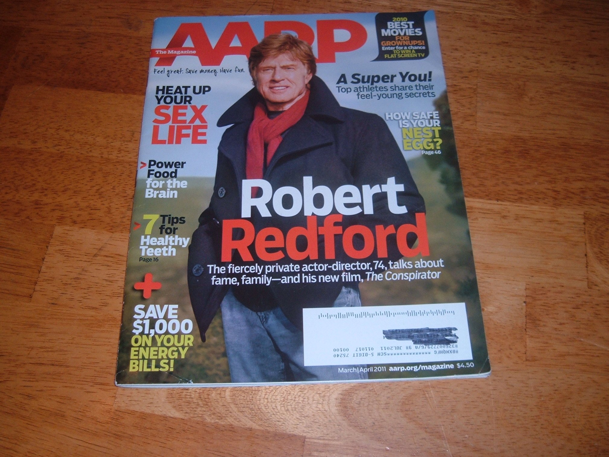 Download AARP March/April 2011 Robert Redford on Cover, Sex and the Empty Nest, Save $1000+ On Your Energy Bills, Best Movies for Grownups, Spend Less On Your Teen, Need a New Job, Power Food for the Brain pdf