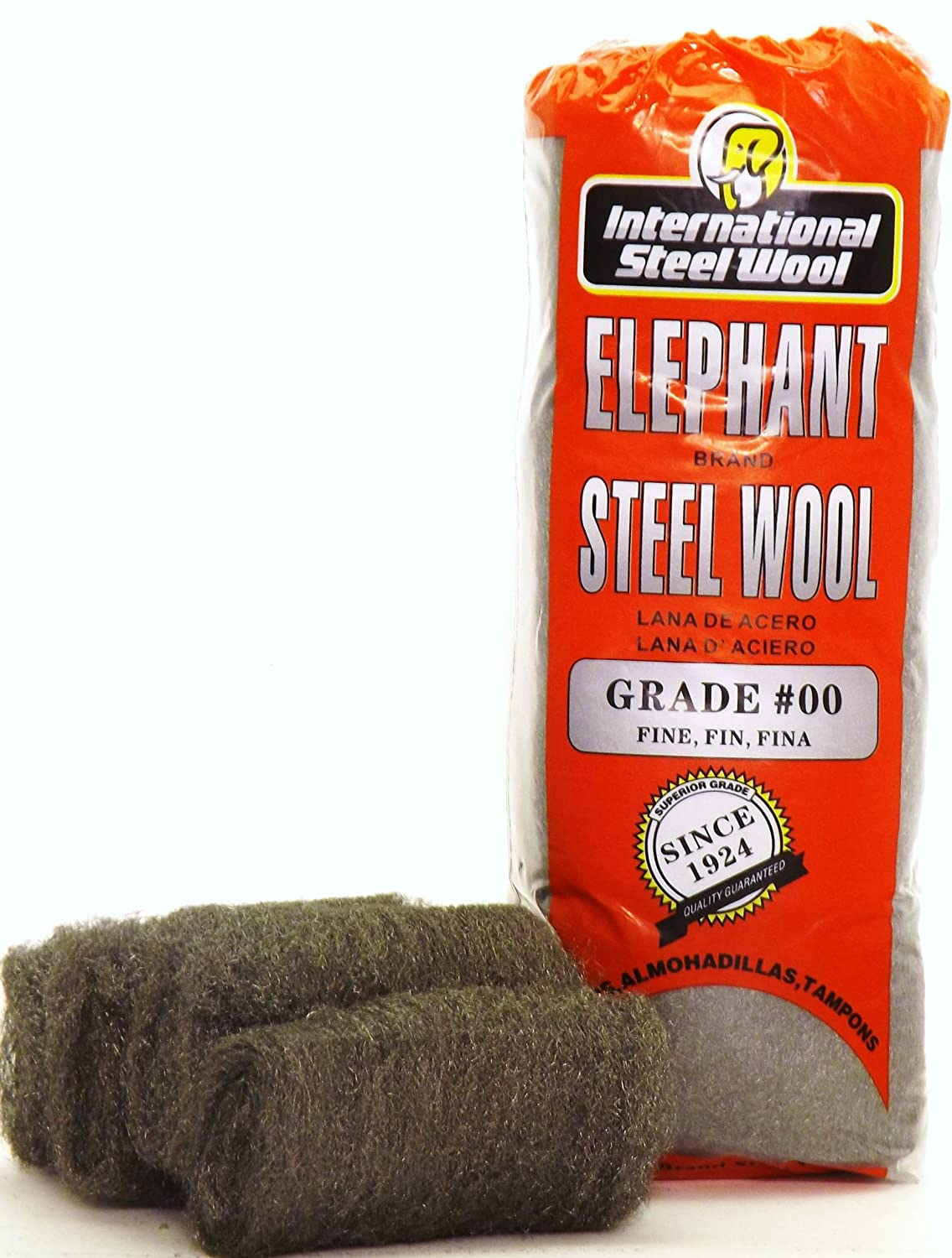 #0000 Steel Wool Hand Pads Case of 12