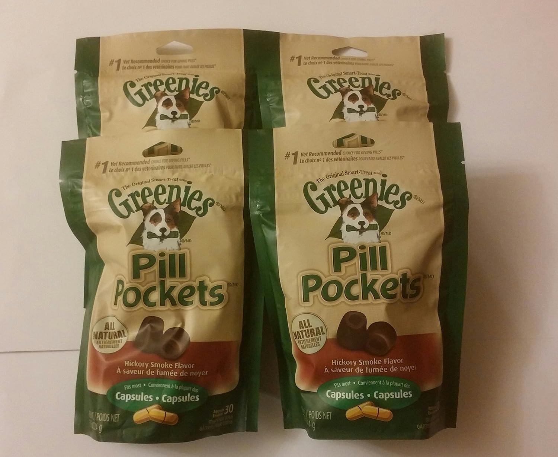 Greenie Pill Pocket Hickory Smoked 3.2 Oz Tablets-4 Pack  120 Tablets