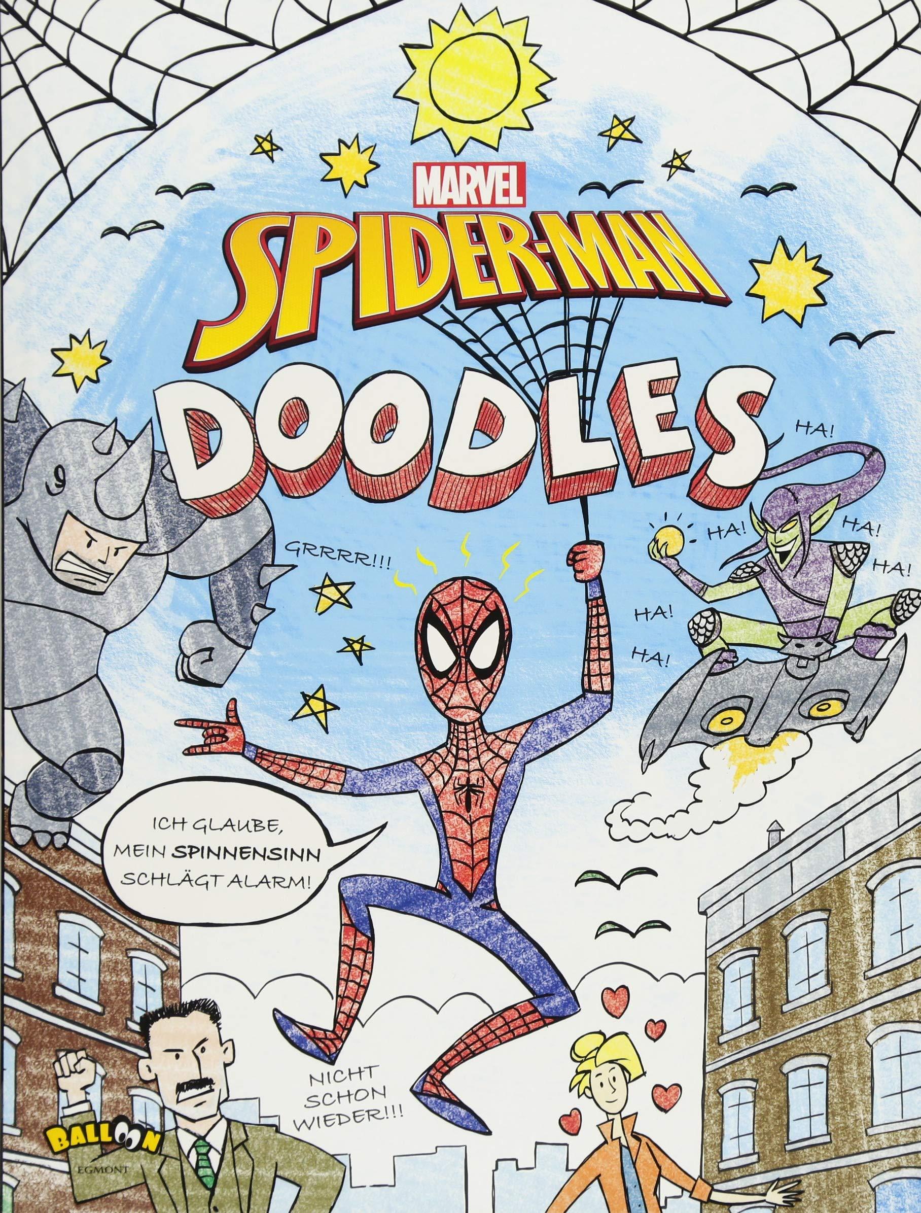 Marvel Doodles - Spider-Man Taschenbuch – 1. März 2018 Egmont Balloon 3864583594 empfohlenes Alter: ab 6 Jahre Comic / Superhelden