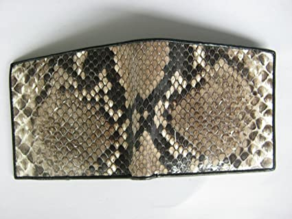 Amazon Com Handmade Genuine Snake Skin Leather Bifold Wallet Size