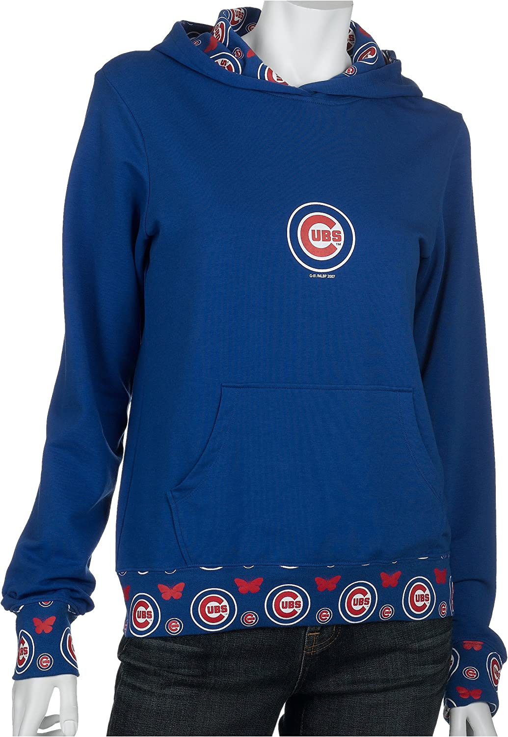 MLB Chicago Cubs Women's Inside Hoodie New Austin Mall popularity Allover
