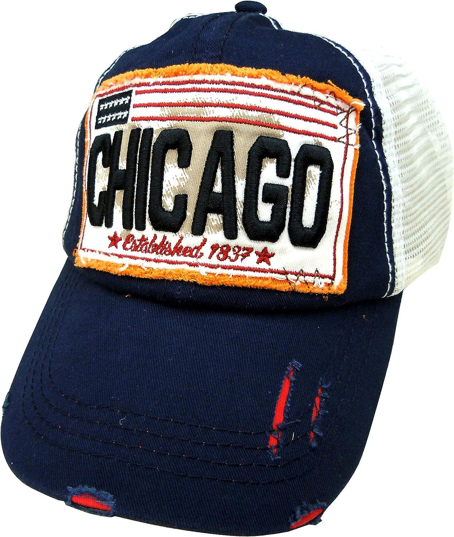 Embroidered American City Stylish Multi-Color Cap | Unisex Cotton Baseball Cap