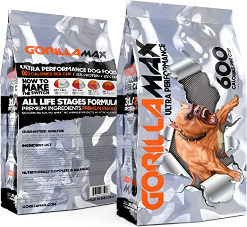 Gorilla Max 31 25 Ultra Performance Dog Food. 600 Calories Per Cup.
