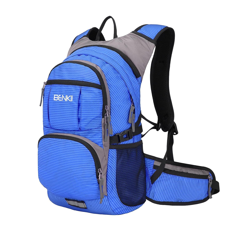 Insulated hydrationバックパックwith 2l水膀胱 – 軽量パックfor Runningキャンプハイキング乗馬登山サイクリングメンズ&レディースFits 18l B078NHQY2C ブルー ブルー