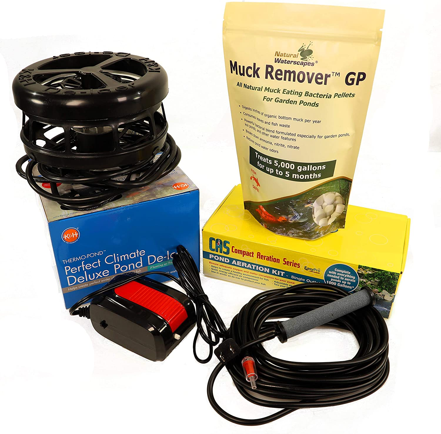 Natural Waterscapes Winter Pond Aerator De-icer Kit