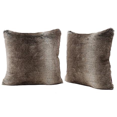 Amazon.com: Almohada decorativa de pelo sintético, de ...