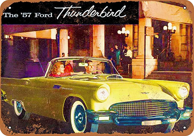 Metal Sign 1955 Ford Thunderbird Vintage Look Reproduction