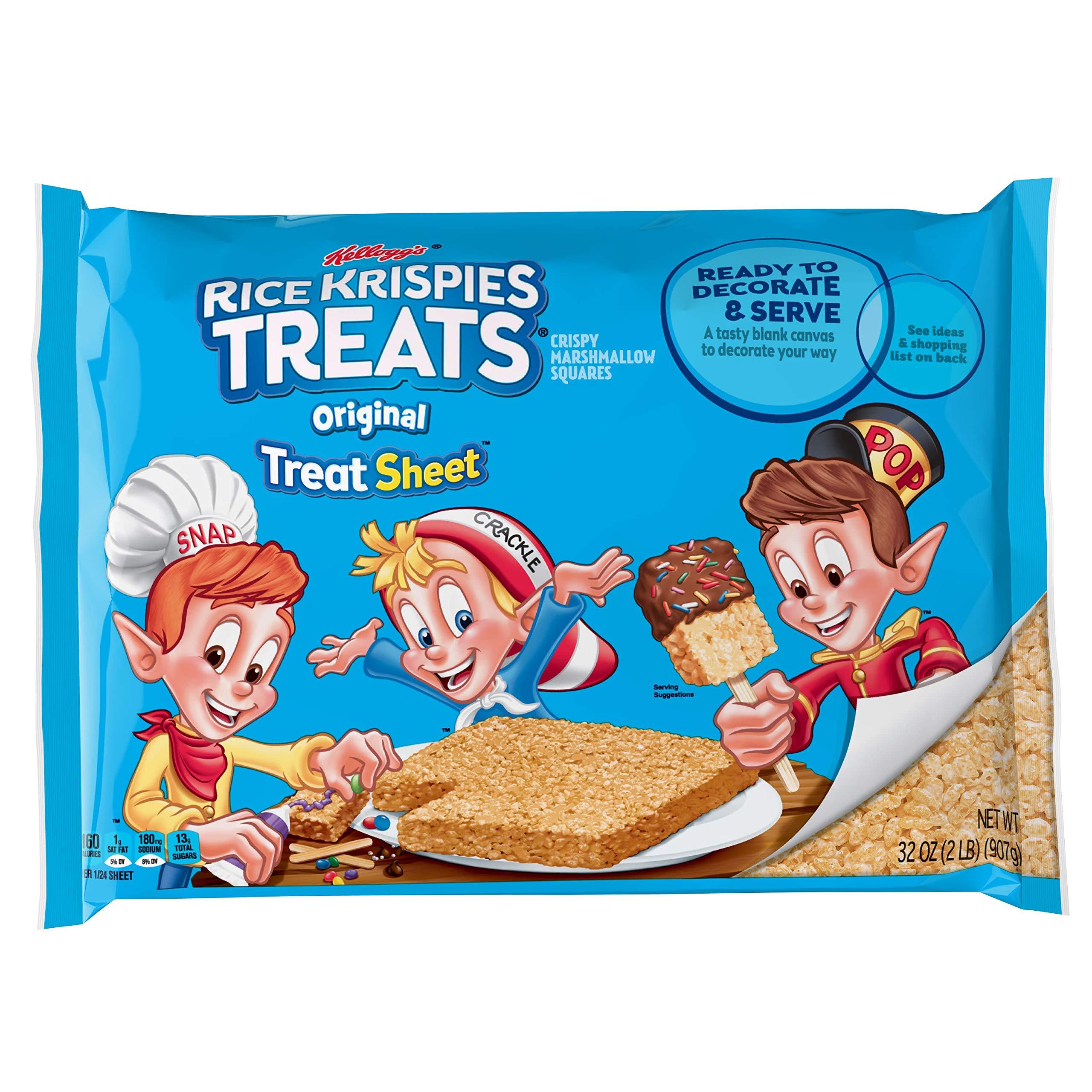 Kellogg's Rice Krispies Treats, Crispy Marshmallow Squares, Original, Fun Sheet, 32 oz Sheet by Rice Krispies