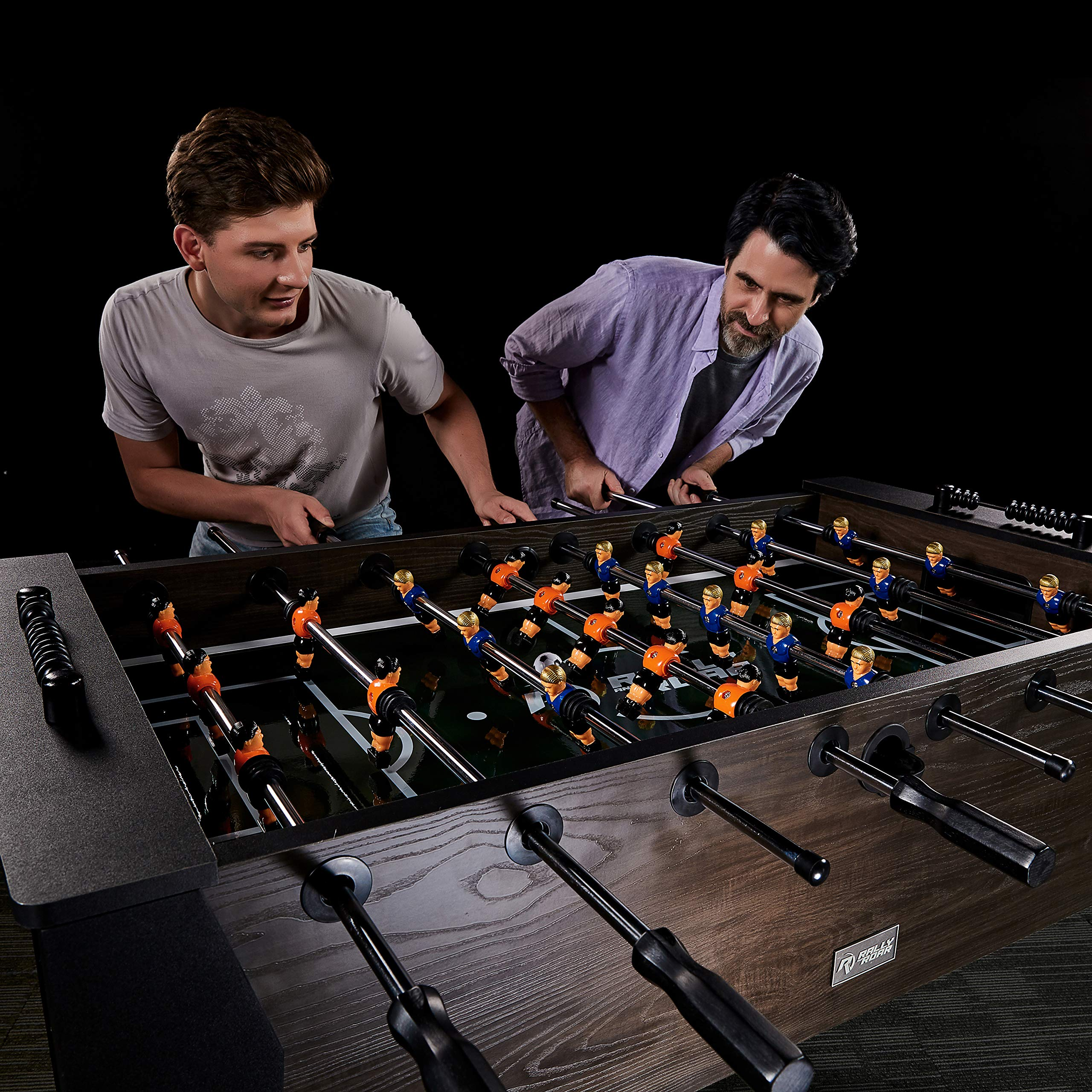 """Rally and Roar Foosball Table Game – 56"""" Standard Size Fun, Multi Person Table Soccer Adults, Kids - Recreational Foosball Games Game Rooms, Arcades, Bars, Parties, Family Night by Rally and Roar (Image #11)"""