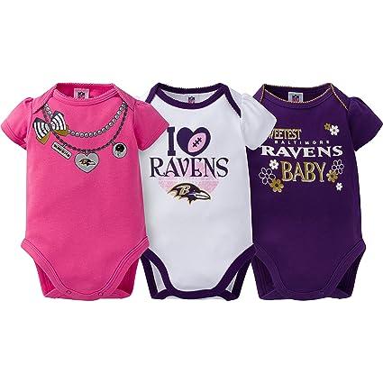 Amazon.com   NFL 3 Pack Short Sleeve Bodysuit   Sports   Outdoors 5a0212a42