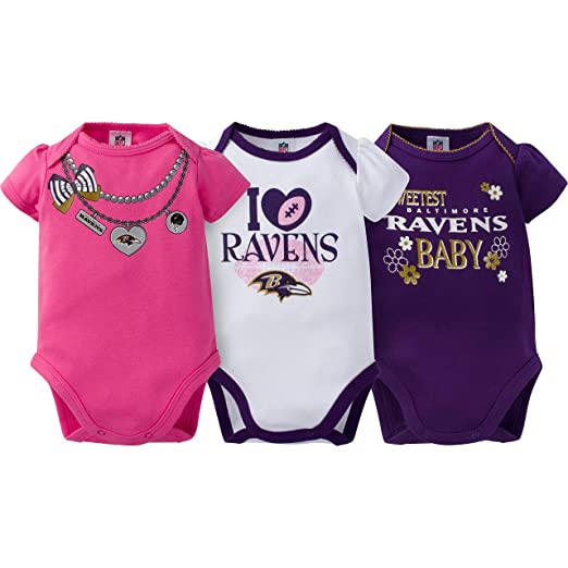 Clothing, Shoes & Accessories Fan Apparel & Souvenirs Professional Sale Outerstuff Nfl Infant Girls Denver Broncos Assorted 3 Pack Creeper Set Discounts Price