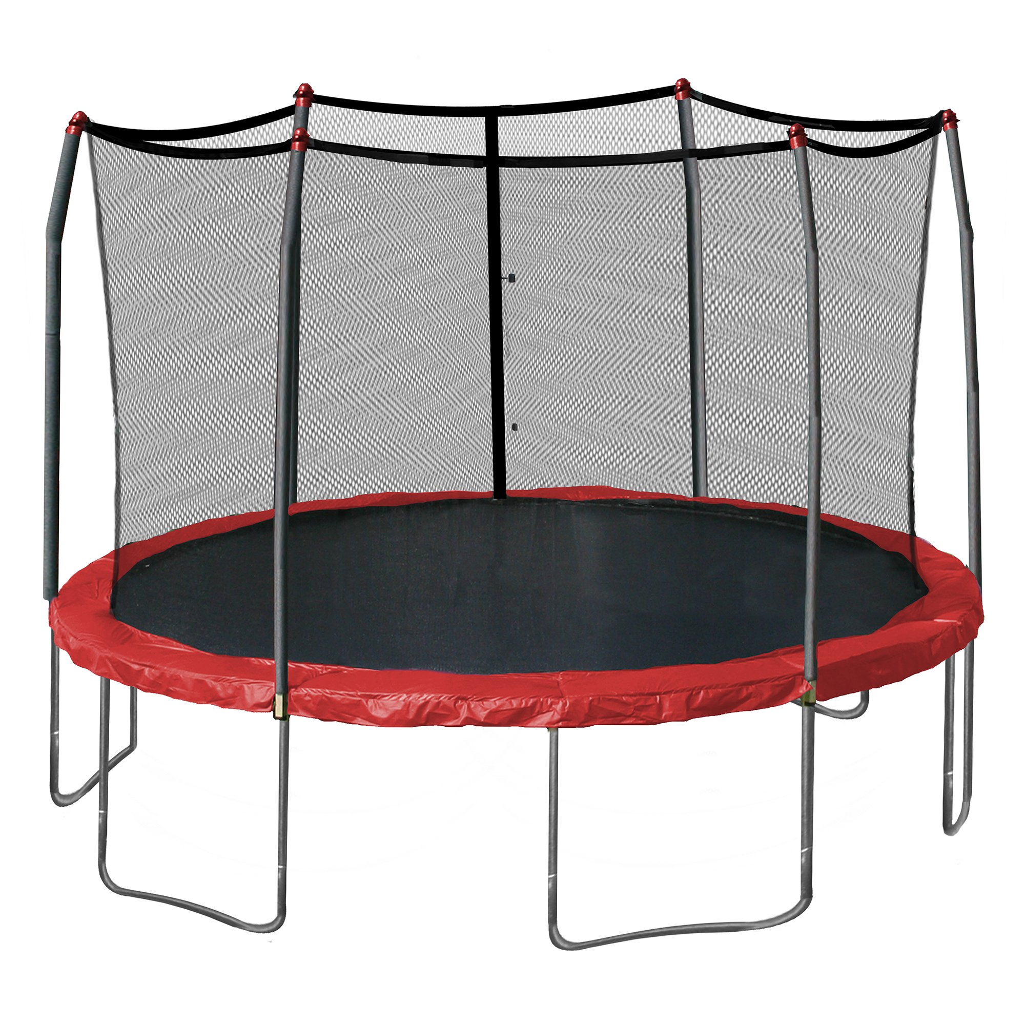 Skywalker Trampolines 15-Feet Round Trampoline, Red by Skywalker Trampolines