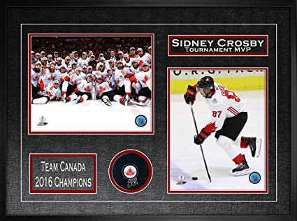 Sidney Crosby Signed Puck 2016 World Cup of Hockey Framed with 2 ... 347518ea056