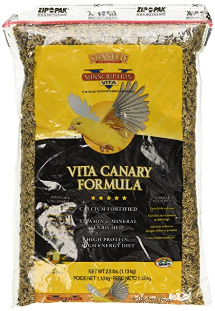 Sun Seed Company Bss59012 6-Case Vita Mix Daily Diets Canary Food, 2.5-